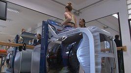 Denisa Rosolová na antigravitačním běžícím pásu