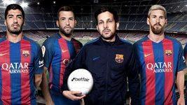 Iluzionista na lavičce Barcelony