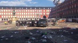 Fanoušci Leicesteru se střetli se španělskou policií