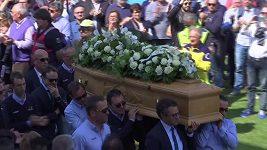 Pohřeb cyklisty Scarponiho