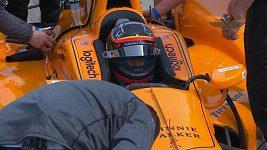 Příprava Fernanda Alonsa na legendární Indy 500