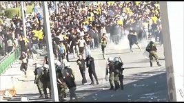 Bitka fanoušků před finále Řeckého poháru