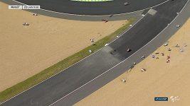 Pád při GP Francie ve třídě Moto3