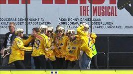 Fanoušci přivítali ve Stockholmu švédský národní hokejový tým