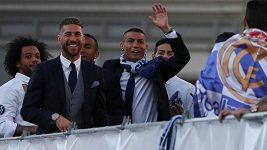 Oslavy fotbalistů Realu Madrid po triumfu v LM