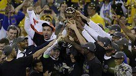 Kabina Golden State po triumfu v NBA