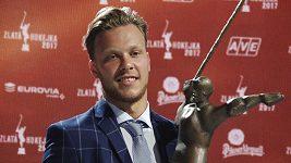 Vítěz Zlaté hokejky David Pastrňák