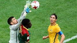 Fotbalový Kamerun remizoval na Konfederačním poháru s Austrálií, slávista Ngadeu zářil