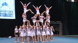 Nejlepší evropské cheerleaders se představily na šampionátu v Praze