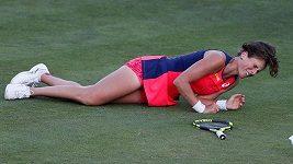 Sestřih utkání Kontaová - Kerberová v Eastbourne