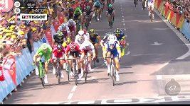 Finiš šesté etapy Tour de France