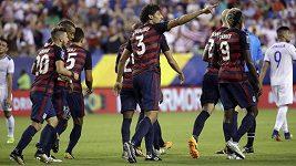 Fotbalisté USA postoupili podeváté za sebou do semifinále Zlatého poháru.