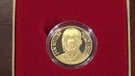 Jan Koller představil svou zlatou minci