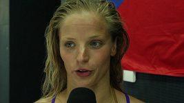 Simona Baumrtová po semifinále na 50 m znak na MS