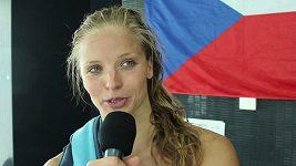 Rozhovor se Simonou Baumrtovou po rozplavbě na 200 m znak na MS v Budapešti.