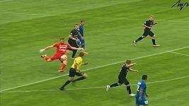 Brankář v Bělorusku dal gól přes celé hřiště