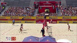 Plážové volejbalistky trápí při šampionátu obrovská vedra