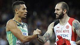 Gulijev se stal překvapivým vítězem dvoustovky na atletickém MS