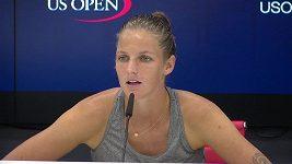 Karolína Plíšková o zatahování střechy v 1. kole US Open