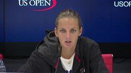 Karolína Plíšková po postupu do osmifinále US Open