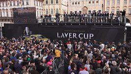 Nejlepší tenisté světa pozdravili před Laver Cupem fanoušky na Staroměstském náměstí