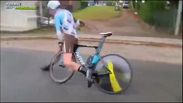 Cyklistovi se rozlomila řidítka a šel k zemi