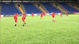 EL, Astana - Slavia, trénink