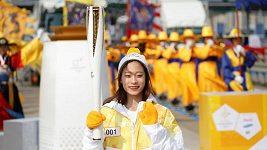 Olympijská pochodeň zahájila svou pouť Jižní Koreou