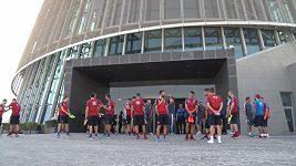 Fotbalová reprezentace a její hotel Pochodeň v Kataru