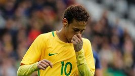 Neymar se rozplakal na tiskové konferenci