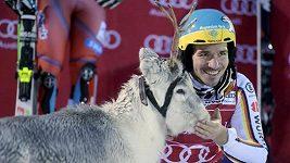 Německý lyžař Felix Neureuther triumfoval v Levi