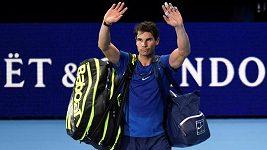 Sestřih prvního a zároveň posledního zápasu Rafaela Nadala na letošním Turnaji mistrů