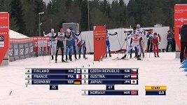 Závod sdruženářů v Lillehammeru vyhráli Norové
