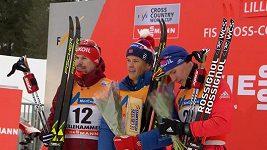 Sprinty v Lillehammeru vyhráli Klaebo a Fallaová