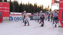 Skiatlon žen v Lillehammeru. Triumf Kallaové