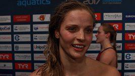 Simona Baumrtová po semifinále na 100 m znak