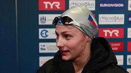 Barbora Seemanová po semifinále na 50 m volný způsob. Znovu vylepšila český rekord