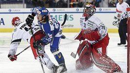 Sestřih utkání Davos - Hradec Králové na Spengler Cupu