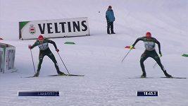 Německá dominance ve sprintu dvojic sdruženářů