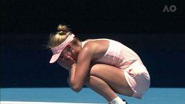 Ukrajinská kometa Marta Kosťukovová je ve 3. kole Australian Open