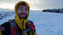 Pavel Paloncý 5 km před cílem Montane Spine Race