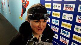 Rychlobruslařka Karolína Erbanová poprvé v kariéře vyhrála ve Světovém poháru závod na 500 metrů.