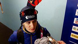 Martina Sáblíková po závodě na 3000 m v Erfurtu