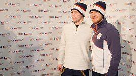 Hokejisti Martin Erat a Ondřej Němec fasovali olympijskou kolekci. Sedla jim
