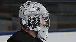 Pavel Francouz a jeho brankářská maska pro ZOH