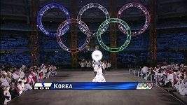 Sportovci Jižní a Severní Koreje v minulosti nastoupili na zahajovacím ceremoniálu OH pod jednou vlajkou třikrát