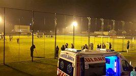Fotbalisté Plzně trénovali v Bělehradu na tréninkovém hřišti Partizanu