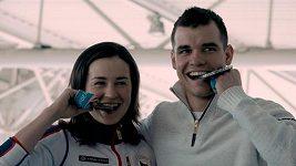 Stříbrný Michal Krčmář a bronzová Veronika Vítková jsou doma z olympiády