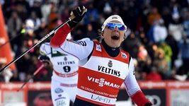Norka Maiken Caspersen Fallaová ovládla sprint SP v Lahti