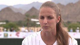 Česká tenisová jednička Karolína Plíšková před turnajem v Indian Wells